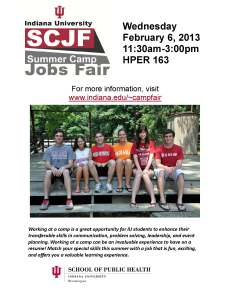 2013 Camp Fair Flyer