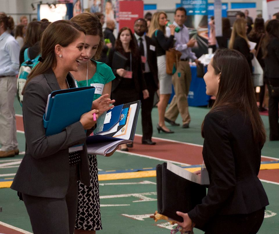 the career fair Fall semester university-wide university-wide career fairs are organized by a dedicated team housed in career services college & campus specific each career fair is organized independently by each college, campus, department, or student organization.