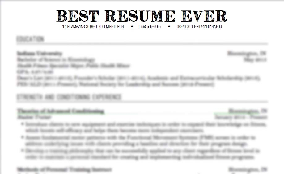 make the resume markushenritk