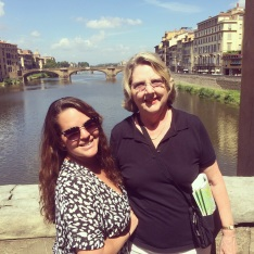 My mom and I on the Ponte Vecchio in Florence Italy